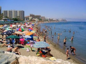 Imagen de las playas españolas semana santa